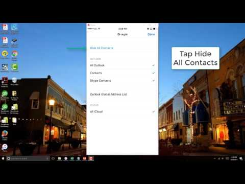 Hide All Contacts on iPhone
