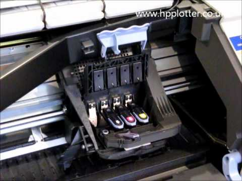 HP Designjet 500 repair - how to replace the printhead on your printer - C4810A C4811A C4812A C4813A
