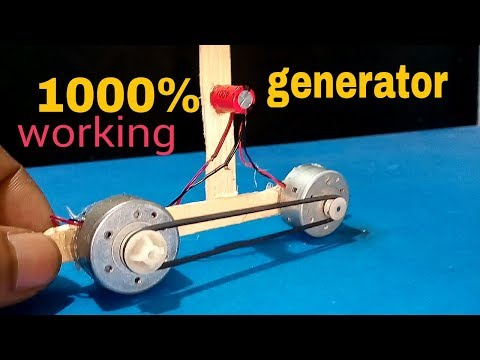 Free Energy How to make a Generator at home - Easy
