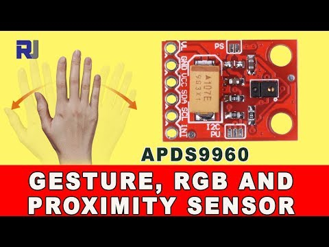Introduction to APDS9960 Gesture, RGB and Proximity sensor for Arduino