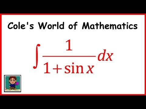Integral of 1/(1 + sinx) ❖ Calculus 1 ❖ Trig Integrals