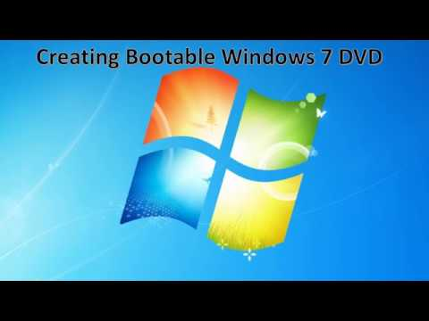 Creating Windows 7 Bootable DVD in tamil