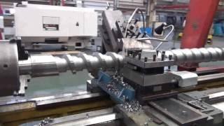 Injection molding machine screw processing cnc lathe