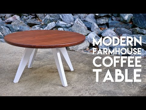Modern Farmhouse Coffee Table with Steel Legs // How To Build - Woodworking