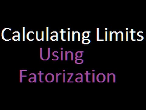 Calculus - finding limit by factorisation