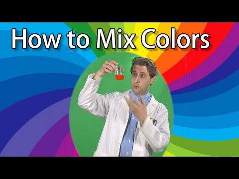 How to Mix 3 Colors to Make a Rainbow - Science Experiments for Kids - Primary Colors