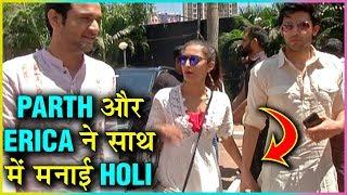 Parth Samthaan & Erica Fernandes Come Hand In Hand At Ekta Kapoor Holi Bash