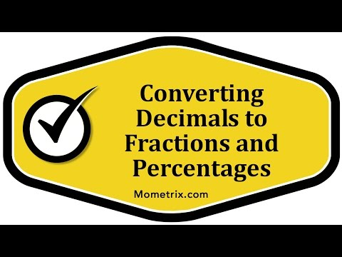 Converting Decimals to Fractions and Percentages