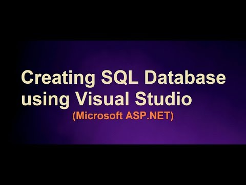 Creating Database using Visual Studio