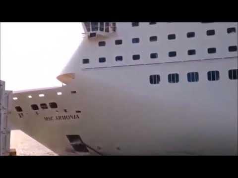 MSC Armonia Crash in Roatan Honduras
