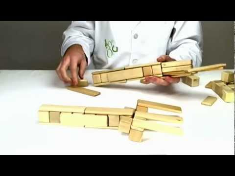 Wooden Toys from Tegu Live - Building a Giant Fork and Knife