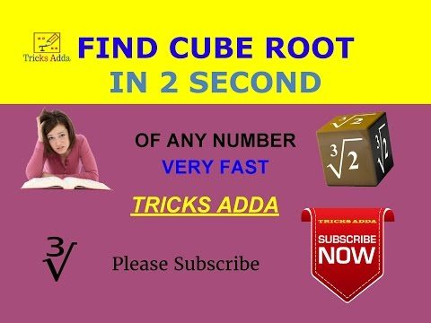 How to Find the Cube Root of a Large Number/ How To Calculate Cube Roots In Your Head (Speed Math)