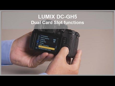 LUMIX - Dual SD Card Slot Functions - DC-GH5, DC-GH5S, DC-G9