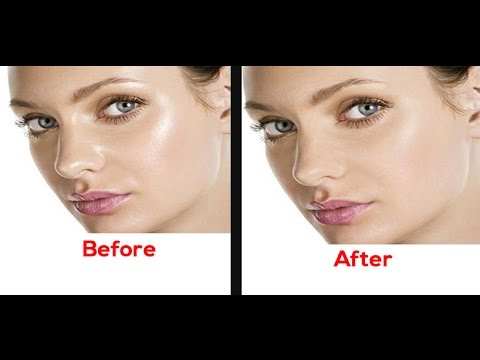 how to remove oil from face on photoshop