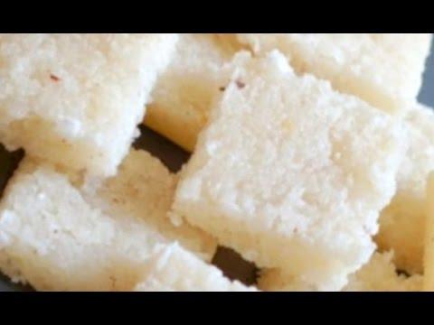 How to Make Fresh Coconut Burfi/Coconut cake