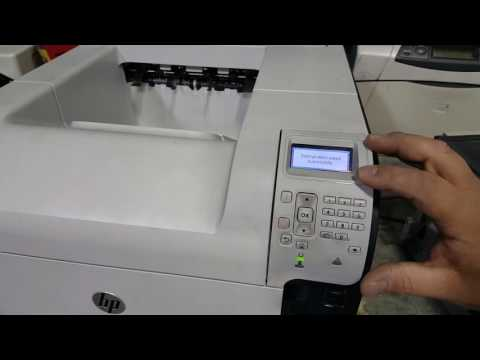 Changing the paper settings and adjust fusing modes on the HP LaserJet M601/602/603
