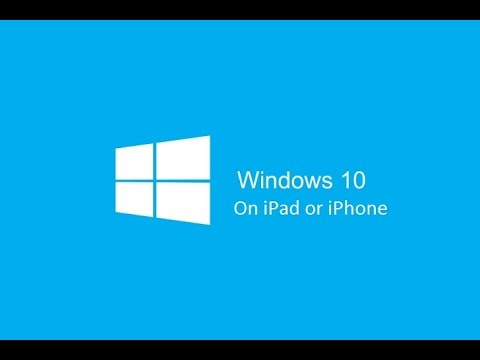 How to Download Windows 10 on iPad/iPhone