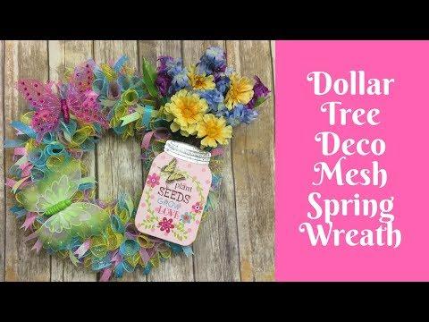Wonderful Wreaths: Dollar Tree Deco Mesh Spring Wreath