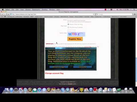 how to connect to a WoW private server on mac