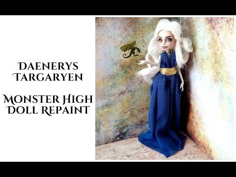 Daenerys Targaryen from Game of Thrones - Monster High Repaint, OOAK doll