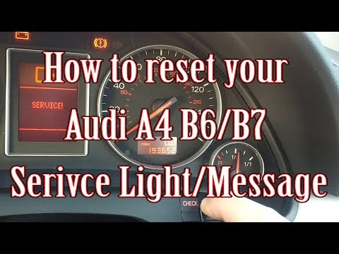 How to reset your Audi A4 B6/B7 Service Light/Message