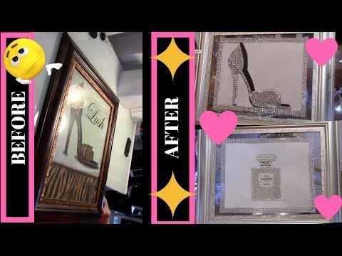 DIY HOW TO RECYCLE WALL ART TO LOOK NEW AND GLAM