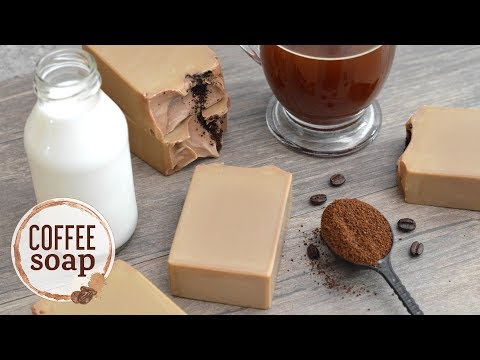Coffee Soap Made With A Coffee Lye Solution | MO River Soap