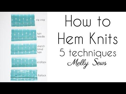 How to Sew a Knit Hem - Hemming Knits