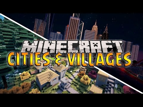 Instant Structures Only One Command - CITIES AND VILLAGES! (Minecraft Only One Command)