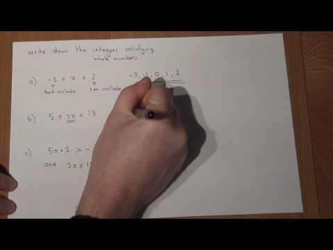 GCSE Maths Integers satisfying inequalities