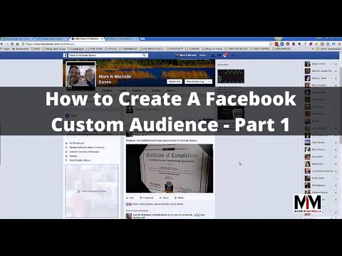 How To Create a *Facebook Custom Audience* Part 1
