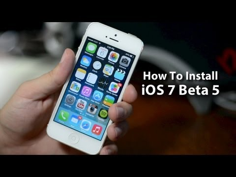 How To Install iOS 7 Beta 5