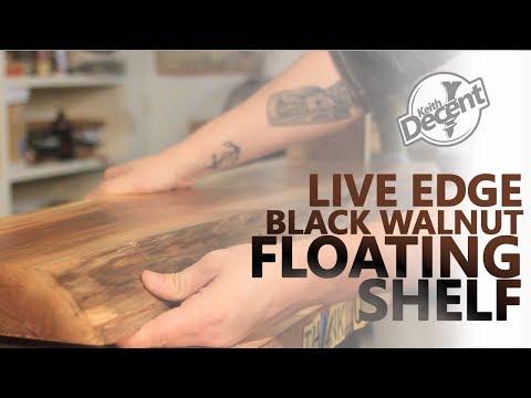 DIY LIVE EDGE FLOATING SHELF - a Decent Project