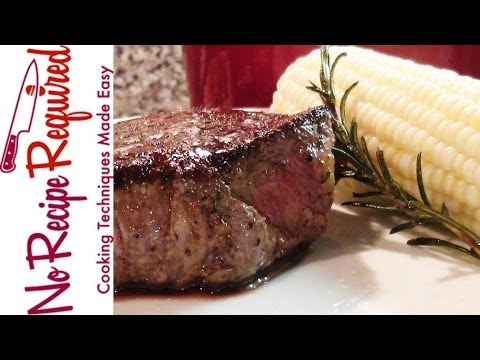 Filet Mignon with Rosemary Butter - NoRecipeRequired.com