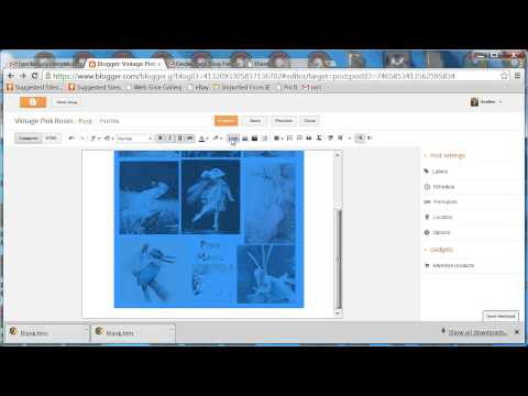 How to add a link to a photo in Blogger with out editing html