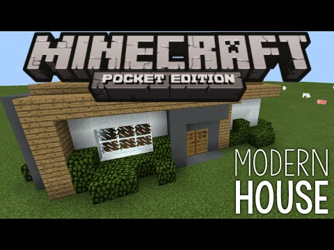 How To Build a Modern House - Minecraft PE (Pocket Edition)
