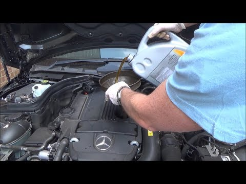 How to Service a Mercedes Benz C Class, C180 W204 Year 2012