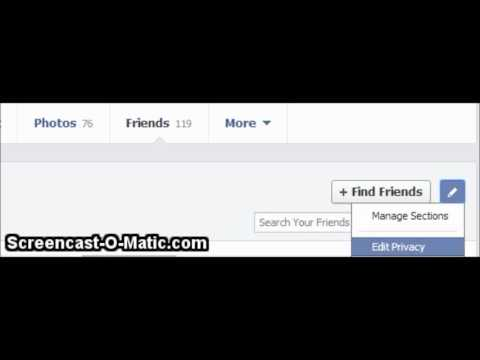 How to set who can see my friends on Facebook