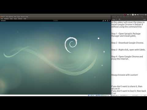 Install Google Chrome in Debian 9 via GUI