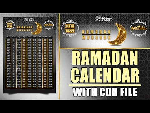 CorelDraw Tutorial - How to Make Ramadan Calendar Design With CDR File Free