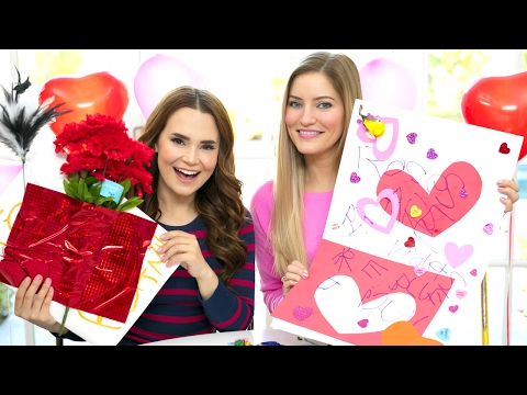 Valentine's Card DIY Blindfold Challenge with Ro!