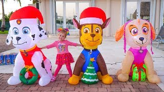Happy New Year with Funny Stacy and Paw Patrol Christmas Toys Video for kids and toddlers