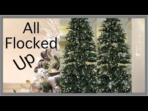 Christmas Decorations | EASY WAY to Flock a Christmas Tree