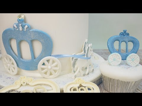 How To Make A Princess Carriage Cake Decoration Using The FMM Cutter