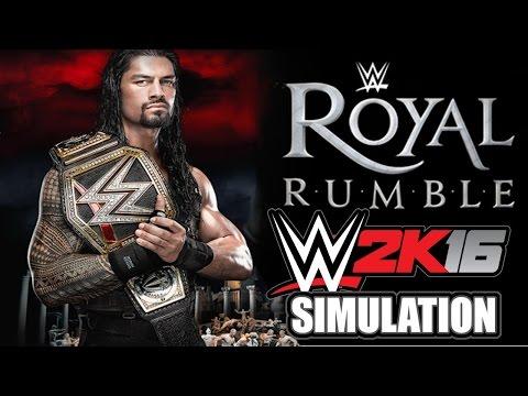 WWE 2K16 (Live on Twitch.TV): WWE Royal Rumble 2016 Simulation