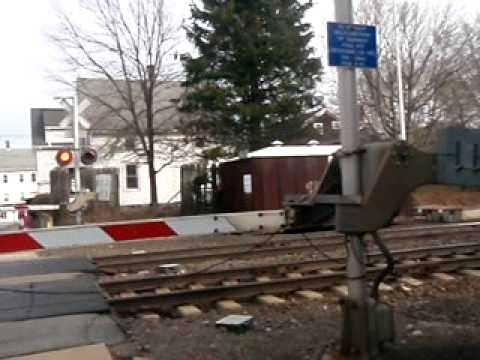 Acela Train at the Palmer Street Crossing, Pawcatuck CT