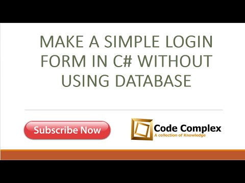 Login Form Without Using Database in C# Windows Form Application by Code Complex