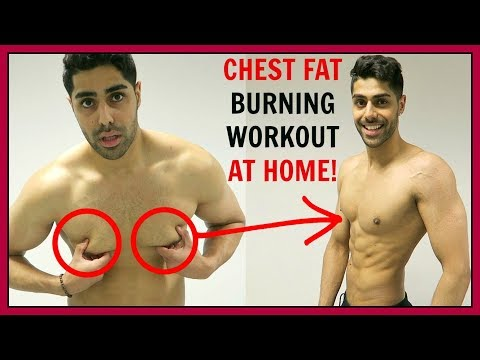 CHEST FAT BURNING WORKOUT AT HOME - NO EQUIPMENT!!