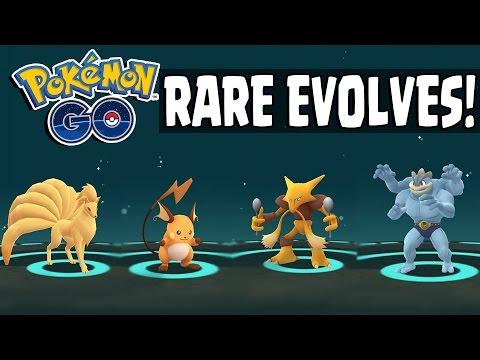 Pokemon GO | RARE POKEMON EVOLVING SPREE - Alakazam, Raichu, Machop, Ninetails & More!