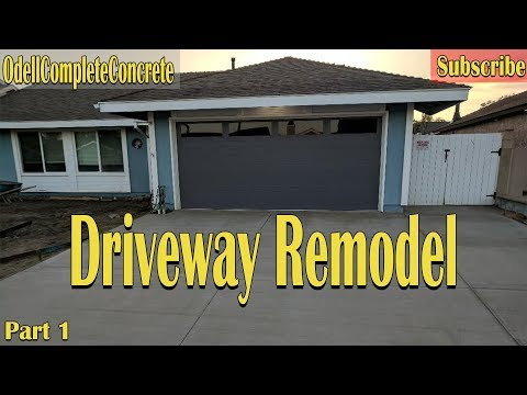 How to Pour a Driveway, Frontyard Remodel part 1